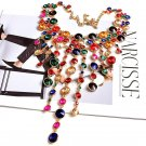 High End Rhinestones Party Necklace