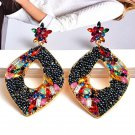 Beads Statement Crystal Earrings