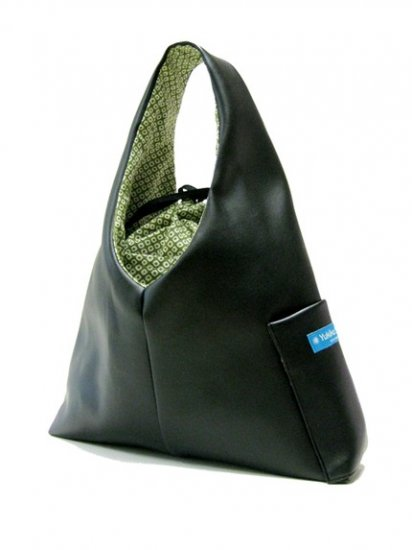 K1AL&D1 Leather look Zen Black 2010 version Matcha Green SHIBORI of Katty TESAGE purse, comes with P