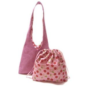 K2L&D2 Florida Chenille'07 of Katty TESAGE purses, Cherry Lining, comes with Purse Insert (Drawstrin