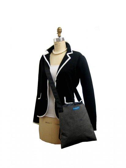 V2SL SUN CharcoChino'08 of Vela TESAGE purses,  Style 2, Sunbrella, Shoulder bags with Drawstring Cl