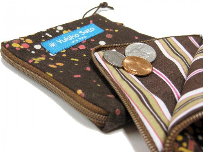 Yukiko Sato * C2L Hanabi Tree of  Chibi mini zip pouch TESAGE, Pocket Wallet Case