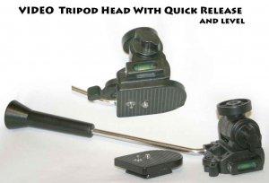 VIDEO Tripod Head With Quick Release & BUBBLE LEVEL