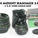 HANIMEX NIKON MOUNT 28mm f/2.8 MC WIDE ANGLE LENS NEW OLD STOCK