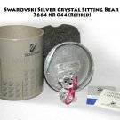 Swarovski Silver Crystal Sitting Bear 7664 NR 044 (Retired) -