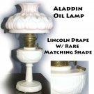 Aladdin Oil Lamp Lincoln Drape W/ Rare Matching Shade