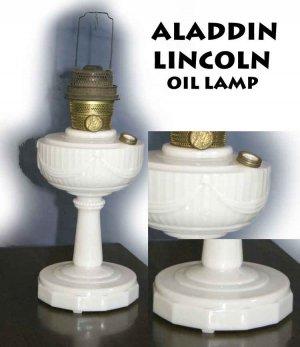 ALADDIN LINCOLN ALACITE OIL LAMP