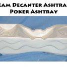 1955 Jim Beam Decanter BOTTLE Ashtray-Vintage Poker Ashtray -