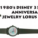 1980's DISNEY 35 YEARS ANNIVERSARY JEWELRY LORUS WATCH