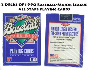 DECKS 1990 Baseball-Major League All-Stars Playing Cards -