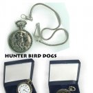 LUCERNE POCKET WATCH WITH CHAIN  HUNTER BIRD DOGS