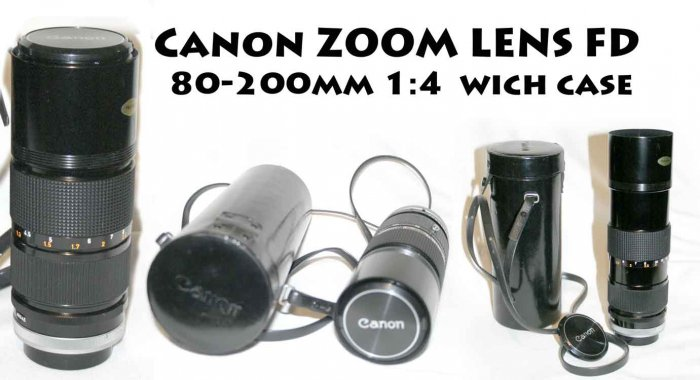 !SOLD! Canon FD Zoom Lens - 80-200mm 1:4 - With Carry Case