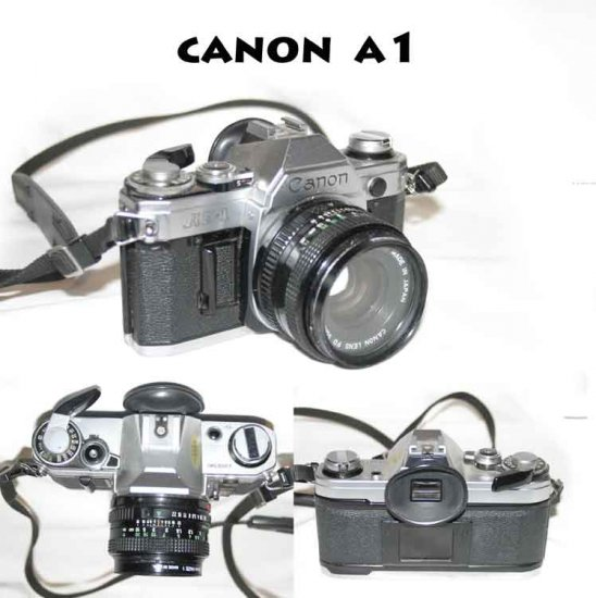 !SOLD! Canon AE-1 Camera + FD 50mm F/1.8 Lens - 52mm Tiffen Haze1 filter Excellent123456759811