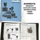 Minolta product catalog sales information book 1980s