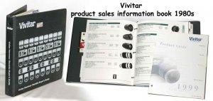Vivitar product sales information book 1980s