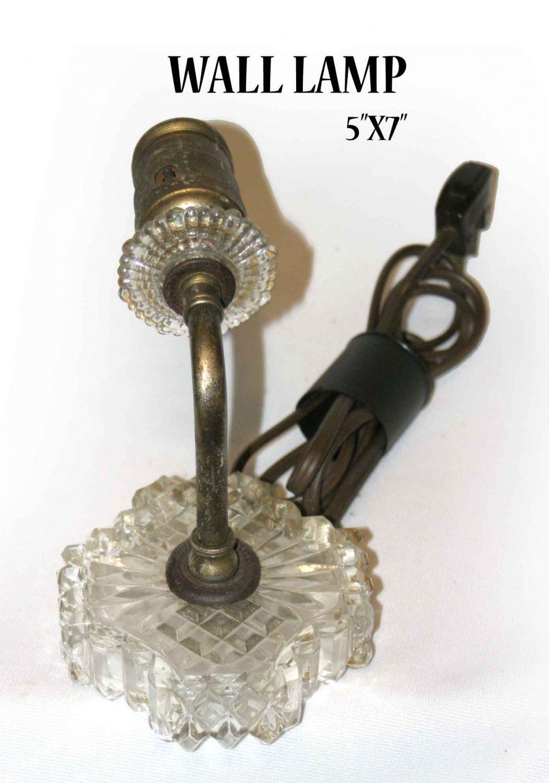 "vintage WALL LAMP 5""X7"" -"