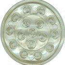VINTAGE CLEAR GLASS FLOWER PLANTER FROG - (16) holes -