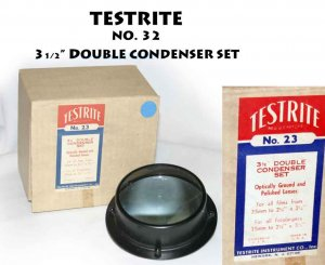 TESTRITE NO. 32  3 1/2� DOUBLE CONDENSER SET orginal box. New old stock