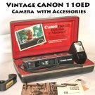 Vintage CANON 110ED Camera with Accessories