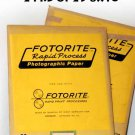 FOTORITE  RAPID PROCESS PHOTOGRAPHIC PRINT  PAPER 2 PKD OF 25 8X10