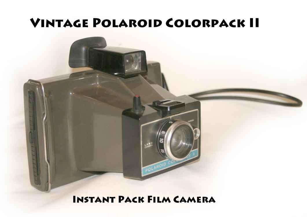 vintage polaroid colorpack ii instant pack film camera. Black Bedroom Furniture Sets. Home Design Ideas