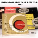 3  USED RECORDING TAPE  REEL TO REEL  600'