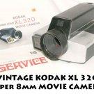 Vintage  VINTAGE KODAK XL 320 Super 8mm Movie Camera II  F/1.9 LENS