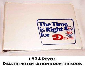 1974 Devoe  Dealer presentation counter book