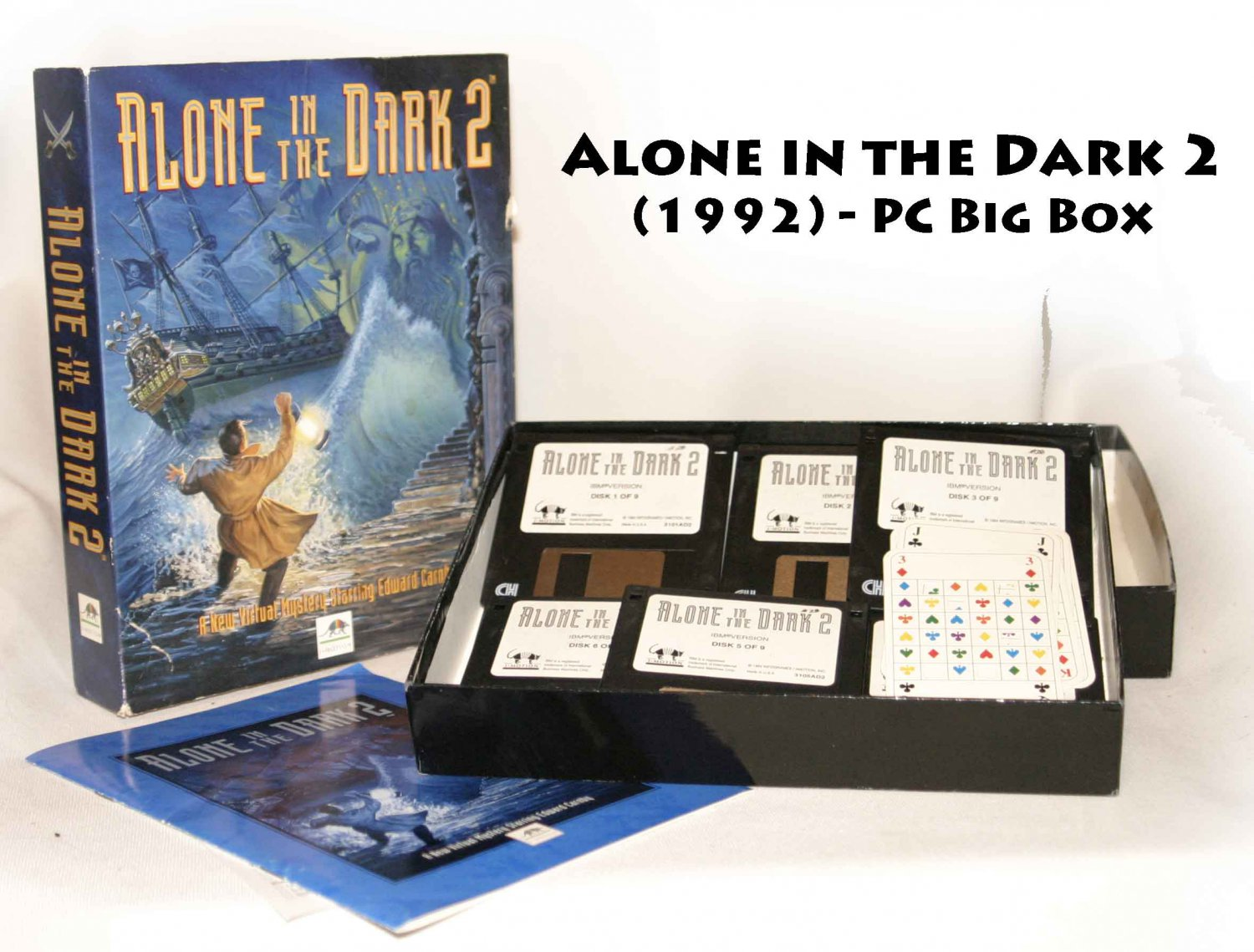 Alone In The Dark 2 Pc 1994 Complete Big Box 3 5 Disks Rare