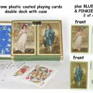 DURATONE PINOCHLE PLAYING CARDS BLUE BOY & PINKIE