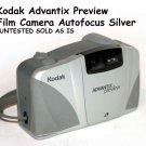 Kodak Advantix Preview Film Camera Autofocus Silver  UNTESTED SOLD AS IS