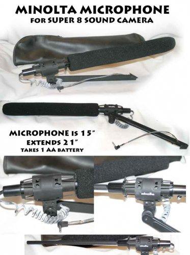 MINOLTA MICROPHONE SUPER 8 SOUND CAMERA also Video Camera Condenser Shotgun Microphone