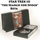 STAR TREK III: The Search for Spock, Betamax Cassette Tape, Vintage Beta