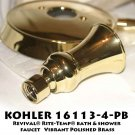 KOHLER K-16113-4 Revival® Rite-Temp® bath & shower faucet   Vibrant Polished Brass