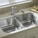 Sterling UCL3322 Double Basin Stainless Steel Kitchen Sink with SilentShield