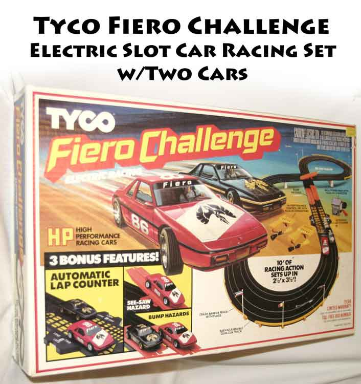 !sold! Tyco Fiero Challenge Electric Slot Car Racing Set W