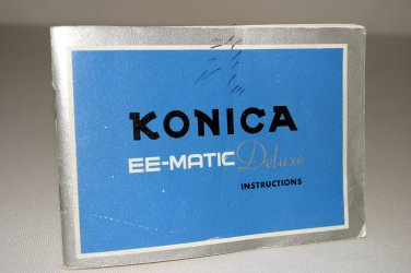 Konica EE-MATIC Deluxe Camera Instruction Manual, 1965: Original