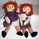 "Vintage  Raggedy Ann and Andy dolls.  They measure about 15"" tall"
