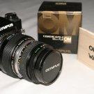 Olympus OM PC 35mm Camera Zuiko 50mm lens,  2X converter, UV filter, Olympus snap cap and body cap