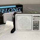 LIFELONG PORTABLE AM FM RADIO #845-LCD ALARM CLOCK-ORIGINAL BOX W/INSTRUCTIONS
