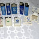 12 used uk lighters and 3 book matches one of frankfort