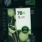 SEALED hp 78xl ink cartridge Tri-color Value Pack 2x More Pages EXP May 2014