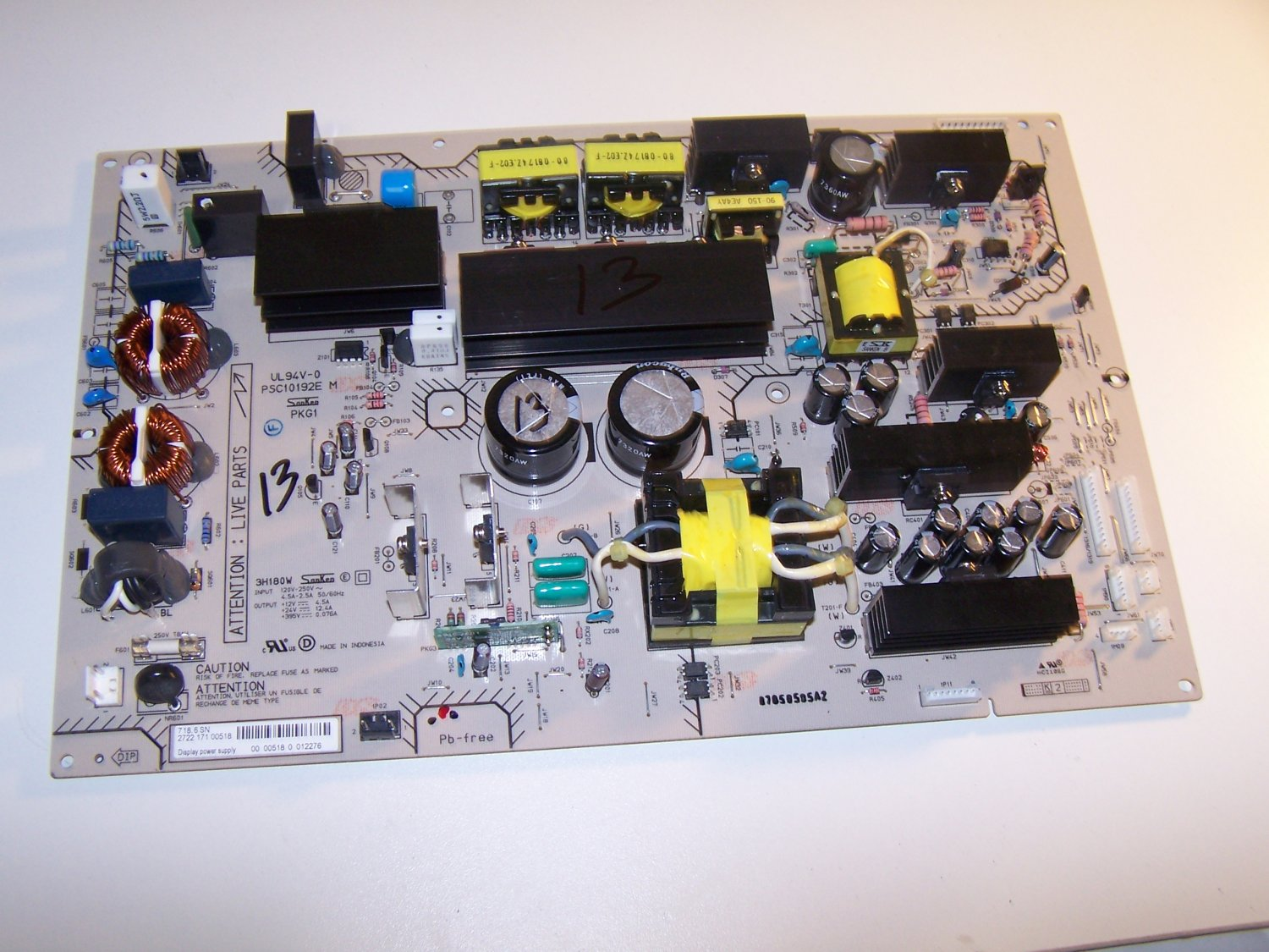 PSC10192J M Power Supply Board Main for PHILIPS 47PFL7422D