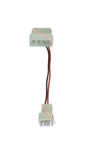 New 3-Pin to 4-Pin Fan Plug Combo Molex Pass-Thru Power Connector Fan Cable