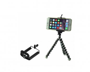 Mini Flexible Octopus Tripod + Bracket Holder Mount for Cell Phone Camera iPhone Samsung & more