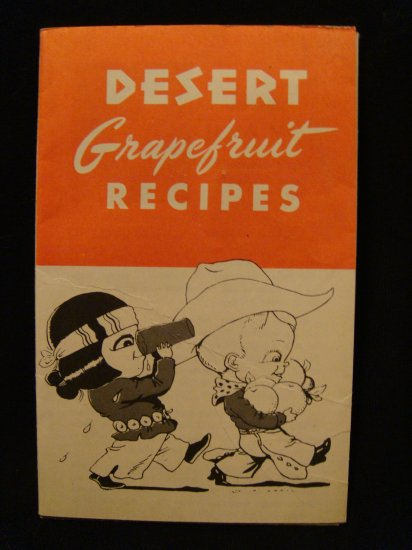 Desert Grapefruit Recipe Folder Vintage California Arizona