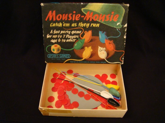 Vintage Mousie Mousie Game Good For Parts 1963