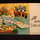 Handi-Wrap Recipe Booklet All Sorts of Sandwiches 1965