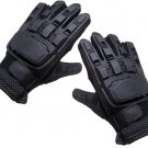 PT5402A  iiSports Flexon Full Finger Armored Vented Paintball Airsoft Leather Gloves MEDIUM