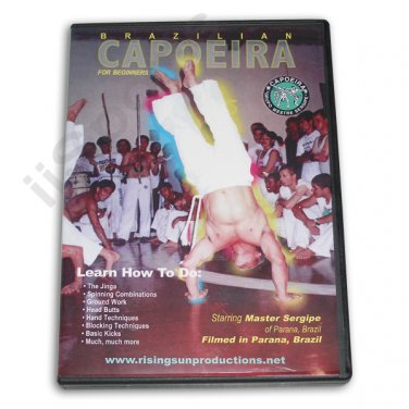 VD6080A    Brazilian Capoeira Fighting Martial Arts DVD Sergipe Jinga spinning combos NEW!